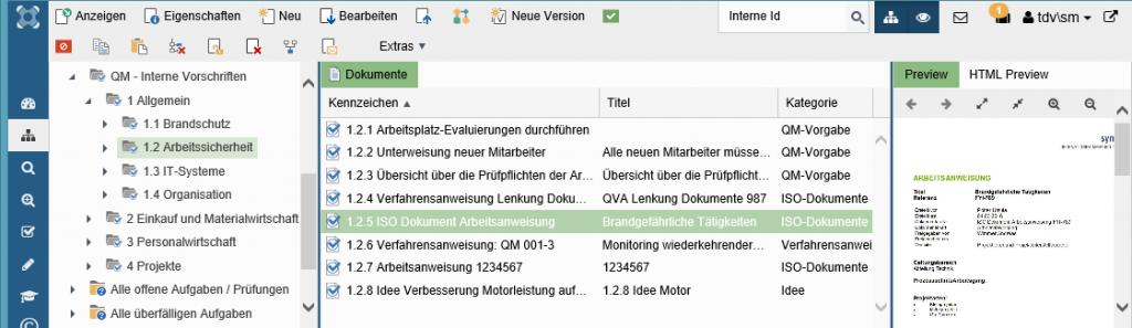 syneris QM ISO-Dokumentation