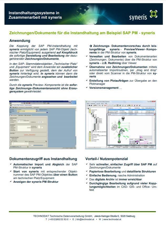Technodat Flyer syneris Instandhaltungssysteme