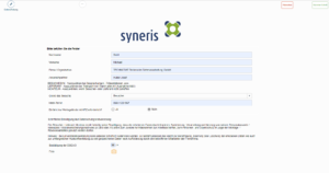 syneris-Besuchermanagement-Dateneingabe