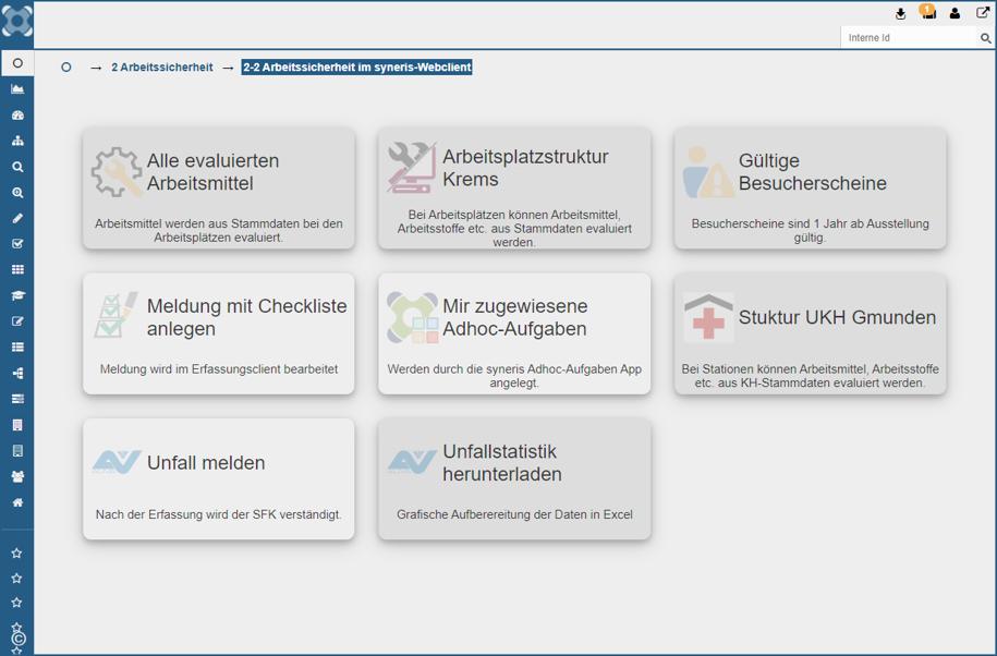 syneris Activity View Aufgaben
