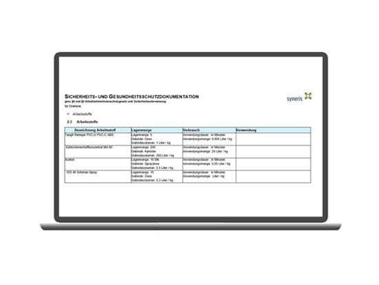 Arbeitssicherheit SiGe-Dokument