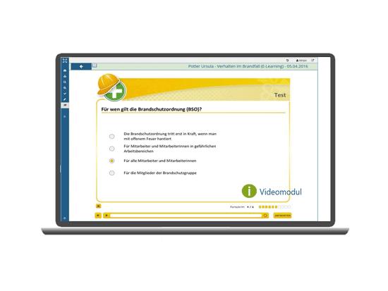 Unterweisungen mit integrierten eLearningmodulen